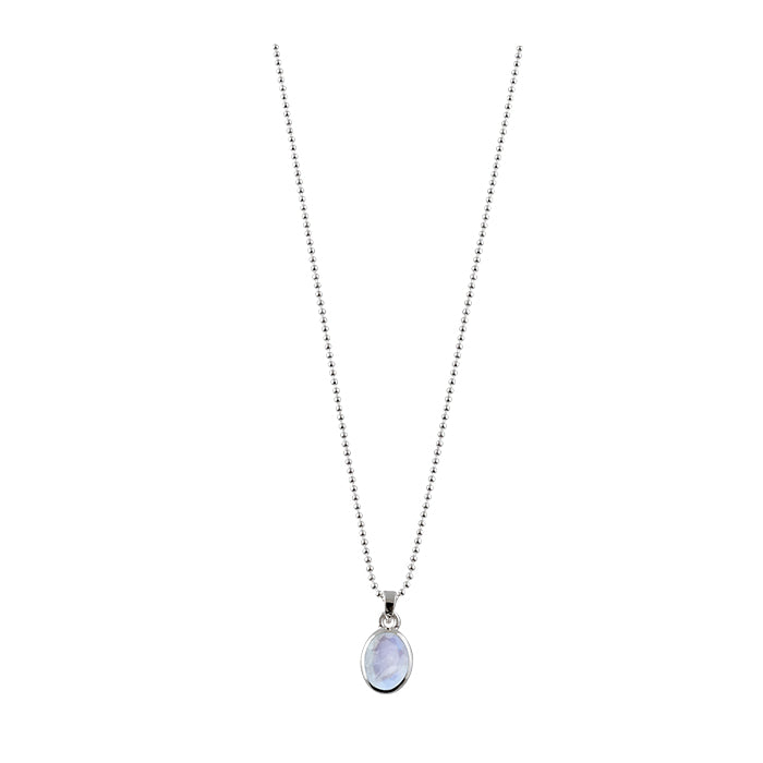 VON TRESKOW OVAL MOONSTONE NECKLACE