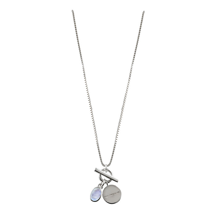 VON TRESKOW OVAL MOONSTONE NECKLACE WITH VT DISC