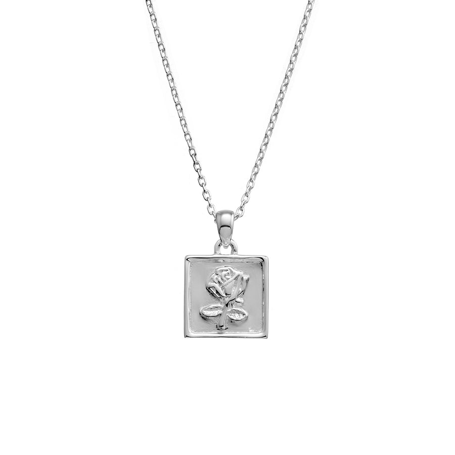 ROSE STAMP NECKLACE