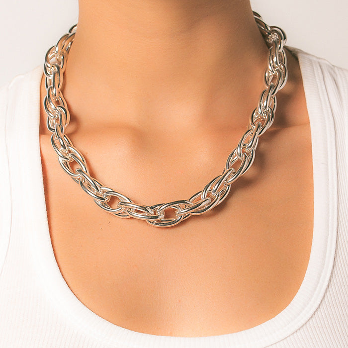 JACINTA DOUBLE OVAL LINK CHAIN NECKLACE