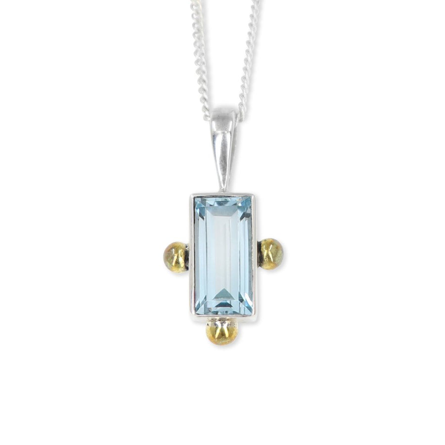 CELINE BLUE TOPAZ NECKLACE