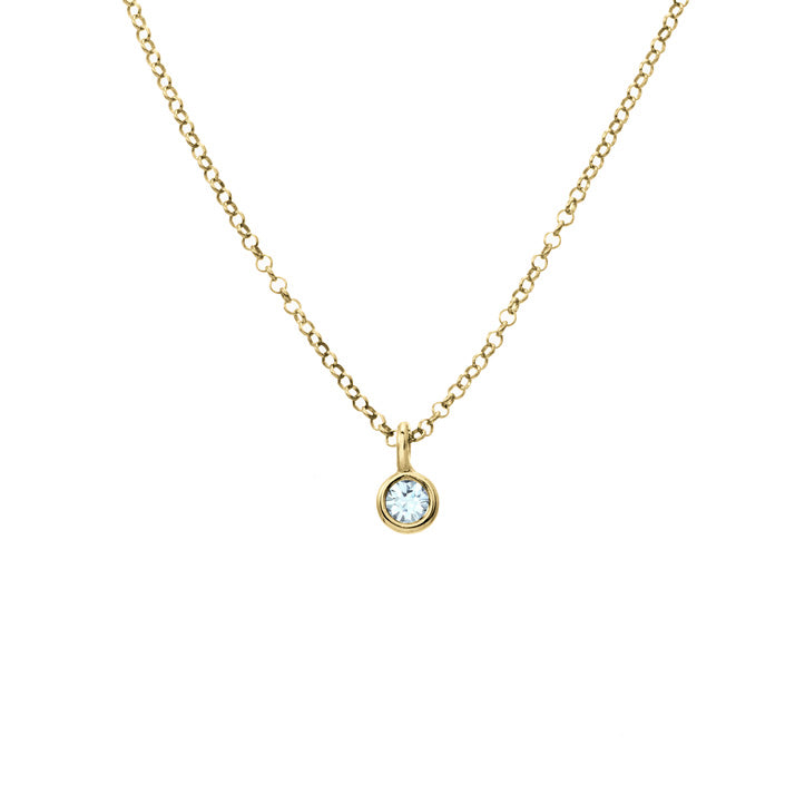 ILLUMINATION | AQUAMARINE HORIZON NECKLACE