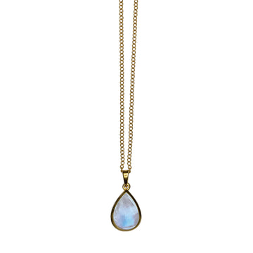 PEAR SHAPED MOONSTONE NECKLACE