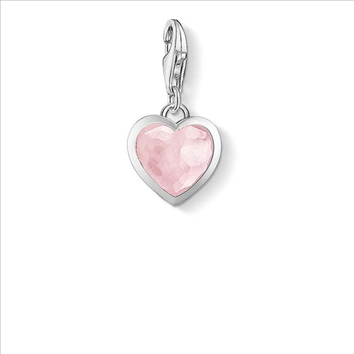 CHARM CLUB ROSE QUARTZ HEART