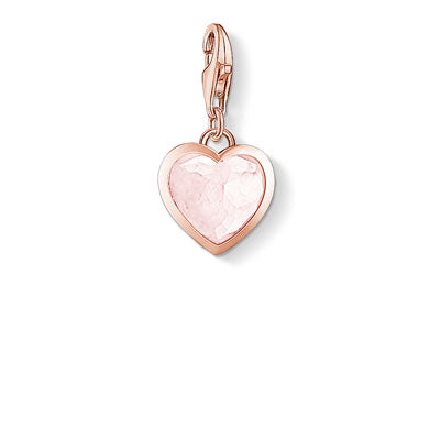 THOMAS SABO CHARM CLUB MILKY QUARTZ HEART ROSE GOLD PLATED