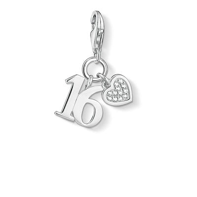 THOMAS SABO CHARM CLUB SWEET SIXTEEN ZIRCONIA