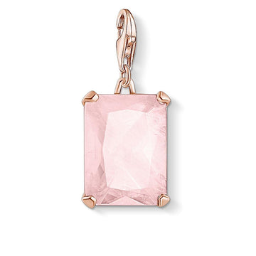 CHARM CLUB LARGE PINK STONE PENDANT