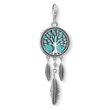 CHARM CLUB TURQUOISE DREAMCATCHER TREE OF LOVE PENDANT