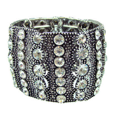 CHRYSALINI DIAMANTE WIDE STRETCH BRACELET