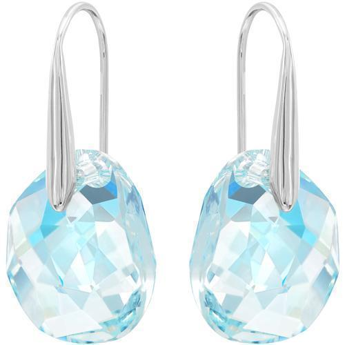 SWAROVSKI GALET AQUA DROP HOOK EARRING