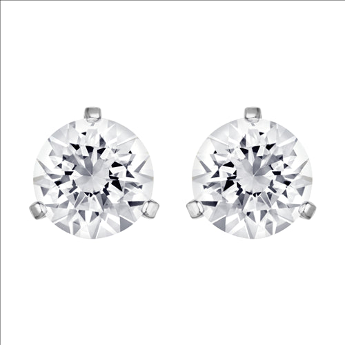 CLEAR SOLITAIR STUD EARRINGS