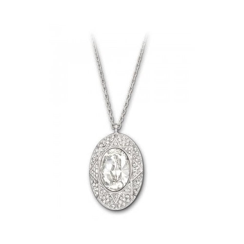 SWAROVSKI SOPHISTICATED CLEAR OVAL PENDANT ON CHAIN