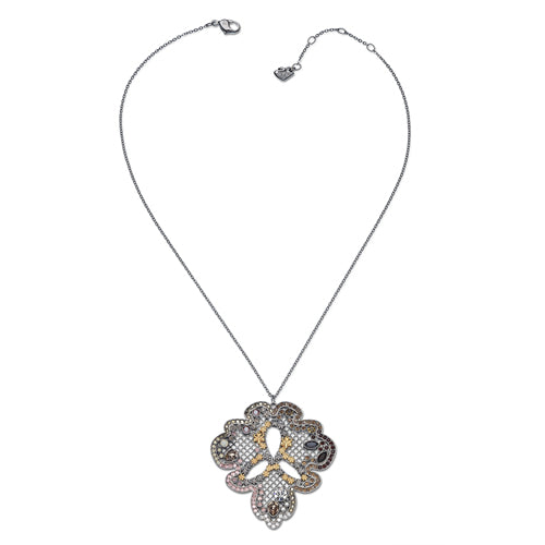 SWAROVSKI SISSY LEAF SHAPED PANDANT ON CHAIN