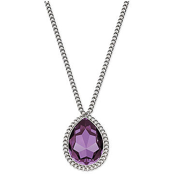 SMOOTHLY SMALL AMETHYST LINK NECKLACE