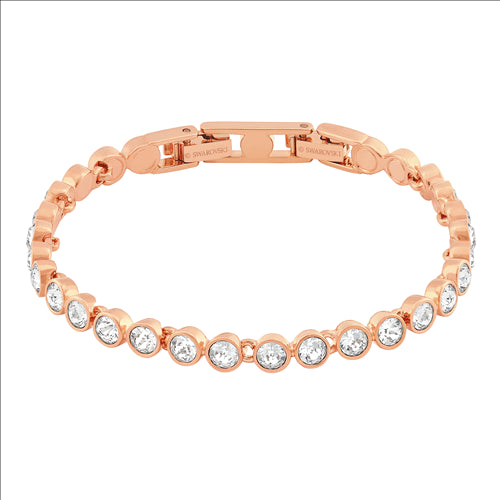 SWAROVSKI GOLD TENNIS ROSE BRACELET