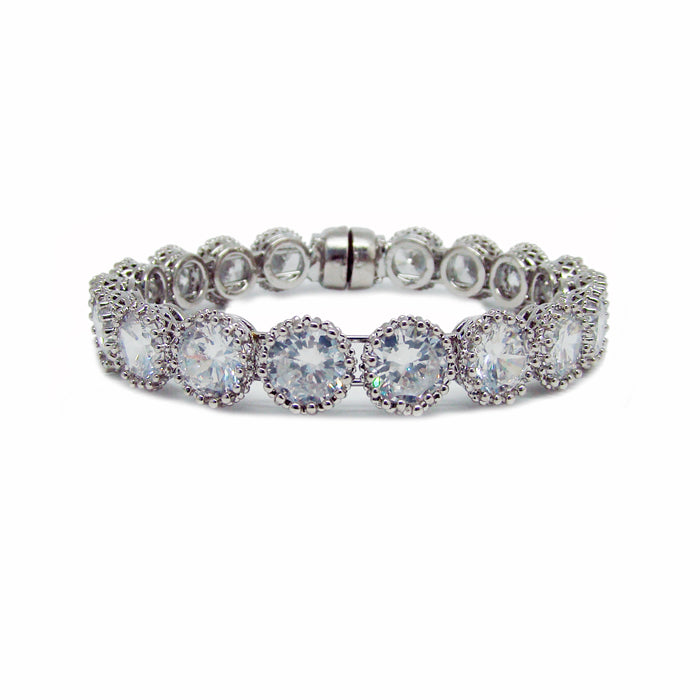 CHRYSALINI ZIRCONIA BANGLE