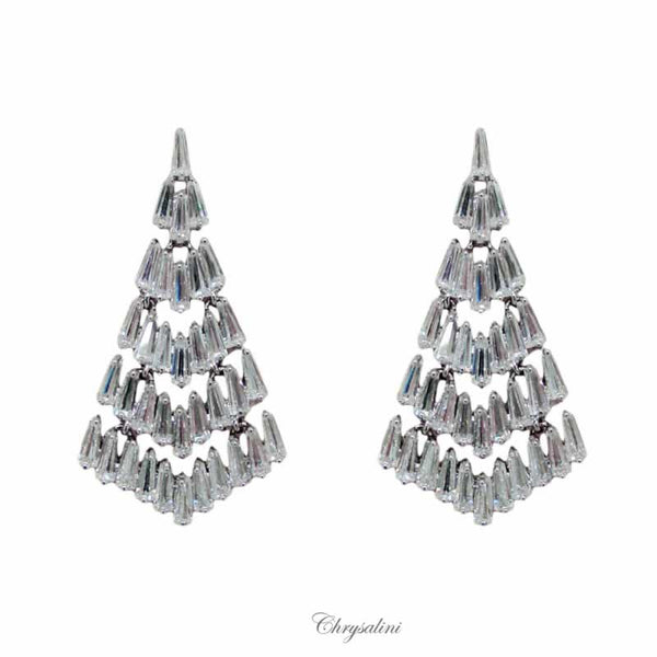 CHRYSALINI VINTAGE BAGUETTE EARRINGS