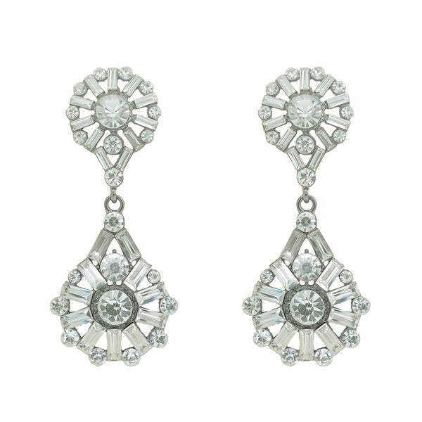 CHRYSALINI TEAR & ROUND DROP EARRINGS