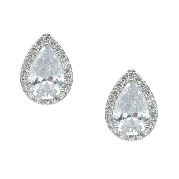 CHRYSALINI TEARDROP ZIRCONIA EARRINGS
