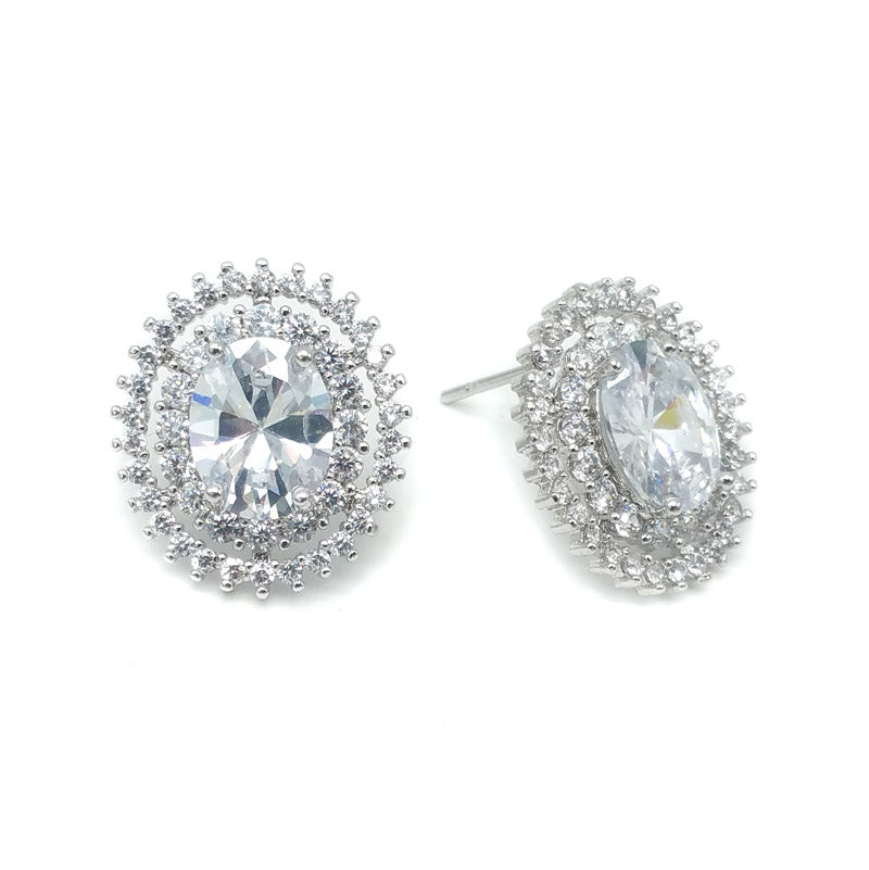 CHRYSALINI ZIRCONIA EARRINGS