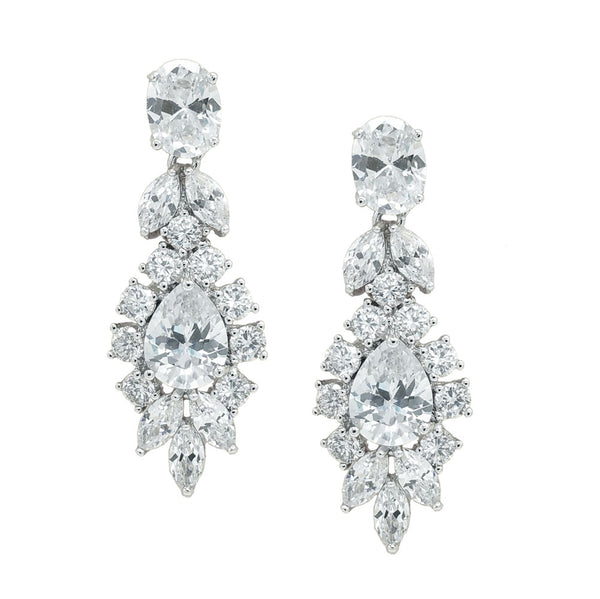 CHRYSALINI FANCY DROP ZIRCONIA EARRINGS