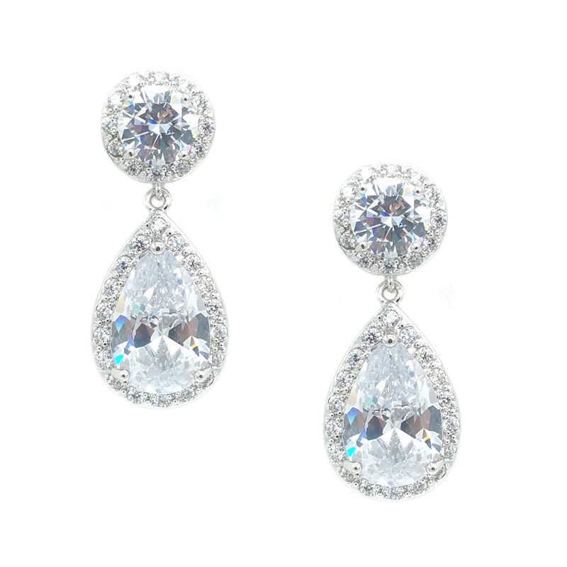 ROUND AND TEARDROP SHAPED EARRINGS