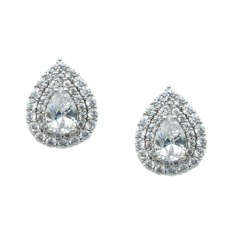 CHRYSALINI PEAR SHAPE EARRINGS