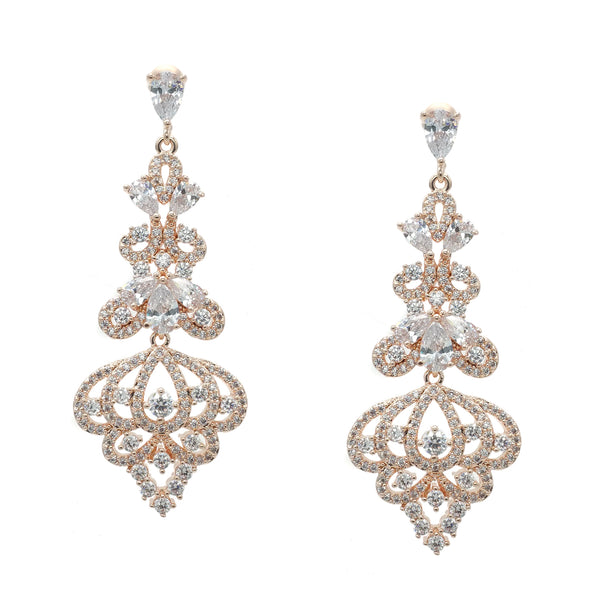 CHRYSALINI ZIRCONIA ART DECO EARRINGS