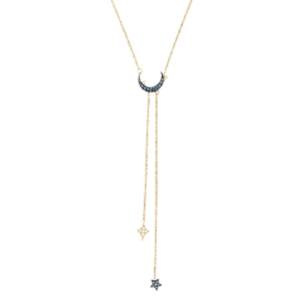 SWAROVSKI DUO MOON NECKLACE