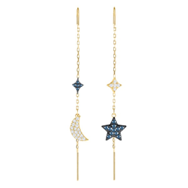 SWAROVSKI DUO MOON & STAR EARRINGS