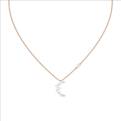 MOONSUN NECKLACE ROSE GOLD PLATE