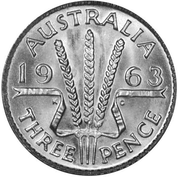 AUSTRALIAN WHEAT THREEPENCE COIN 1938-64
