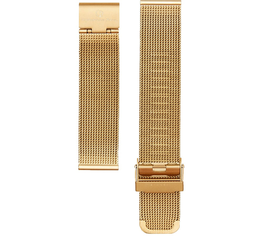 CHRISTIAN PAUL ROSE GOLD MESH 20MM WATCH BAND
