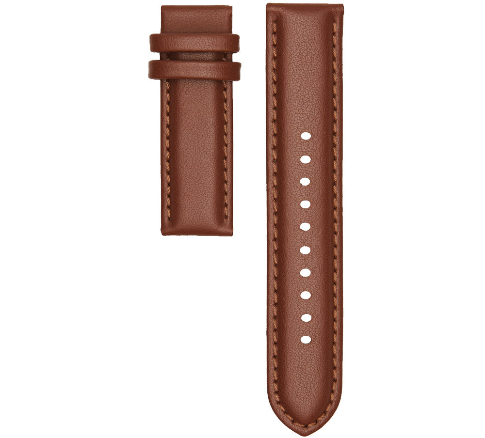 CHRISTIAN PAUL STITCHED TAN LEATHER 20MM STRAP