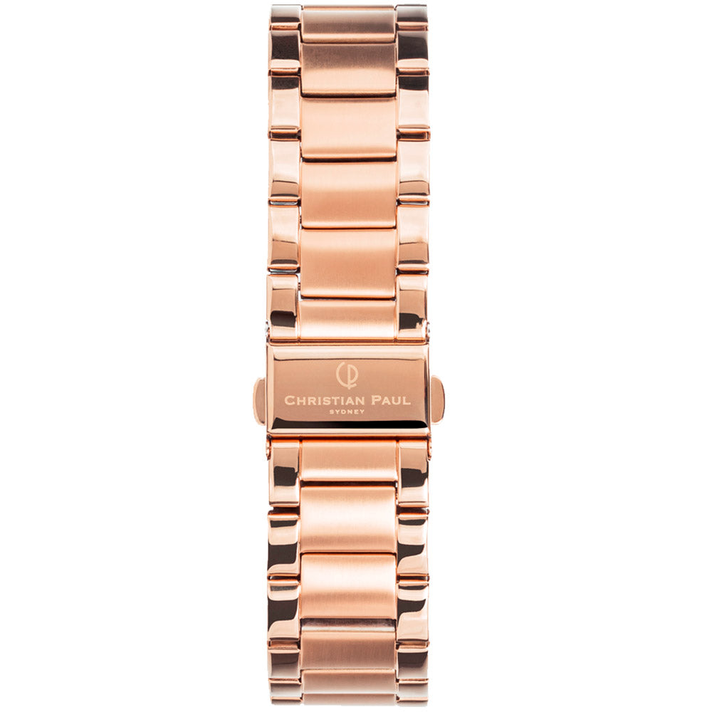 CHRISTIAN PAUL ROSE GOLD LINK 20MM WATCH BAND