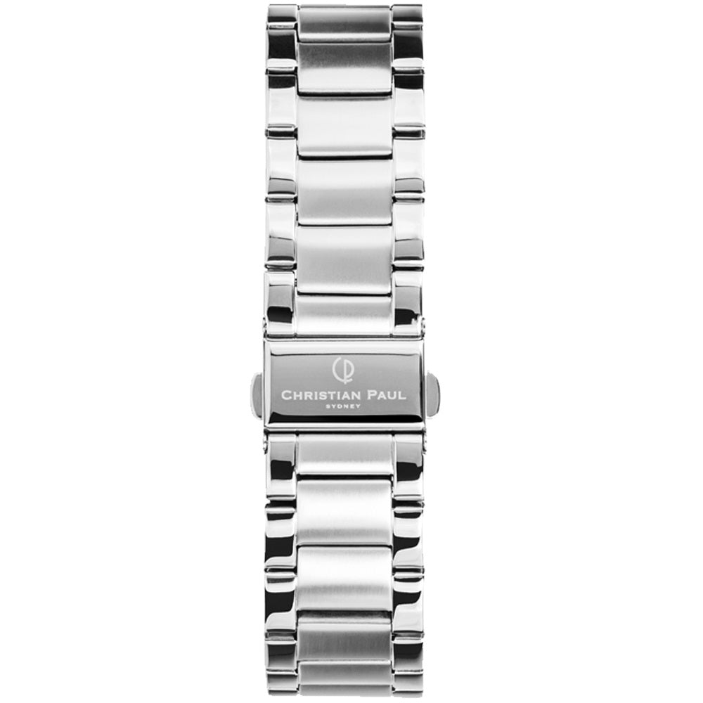 CHRISTIAN PAUL SILVER LINK 20MM WATCH BAND