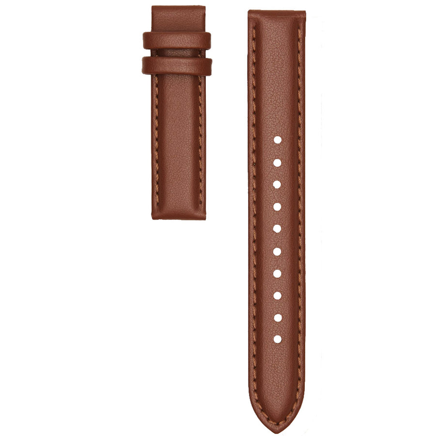 STITCHED TAN LEATHER 16MM STRAP