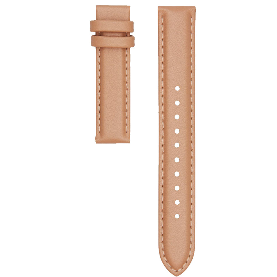 STITCHED NUDE LEATHER 16MM STRAP