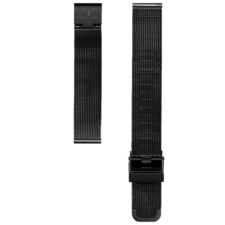 BLACK MESH 16MM WATCH BAND