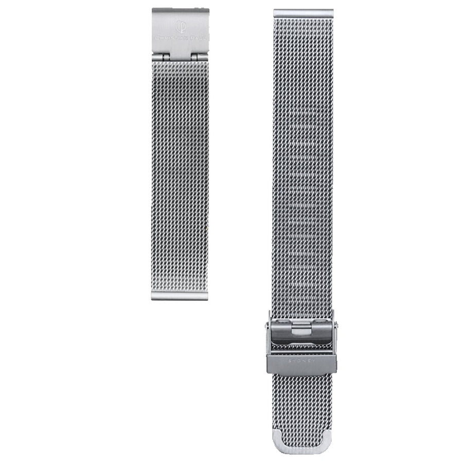 SILVER MESH 16MM WATCH BAND