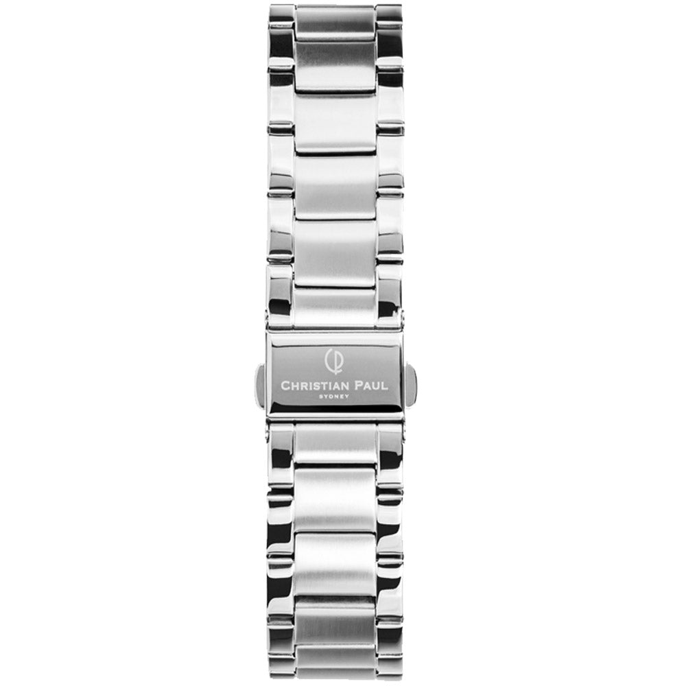 CHRISTIAN PAUL SILVER LINK 16MM WATCH BAND