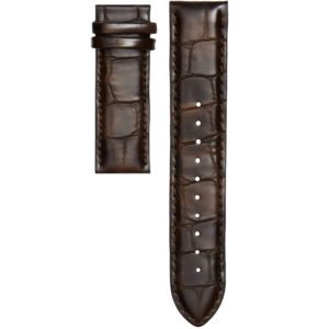 CHRISTIAN PAUL CROC BROWN LEATHER 20MM STRAP