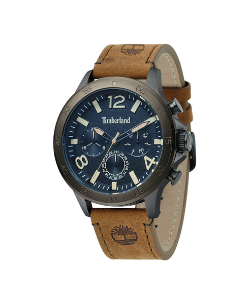 TIMBERLAND BRANFORD GUN/BLACK | BROWN WATCH