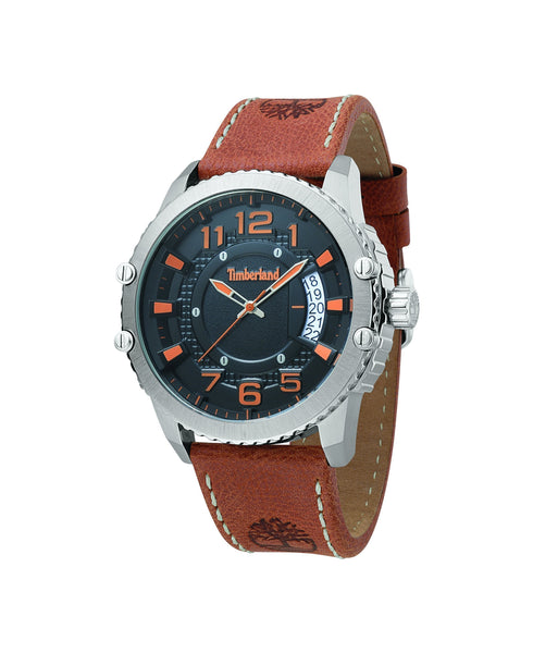 TIMBERLAND DUNSTABLE SILVER/BLACK | TAN WATCH
