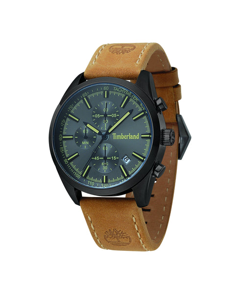 TIMBERLAND STAFFORD BLACK/GUN | KHAKI WATCH