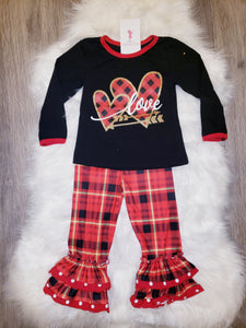 Love Plaid Set