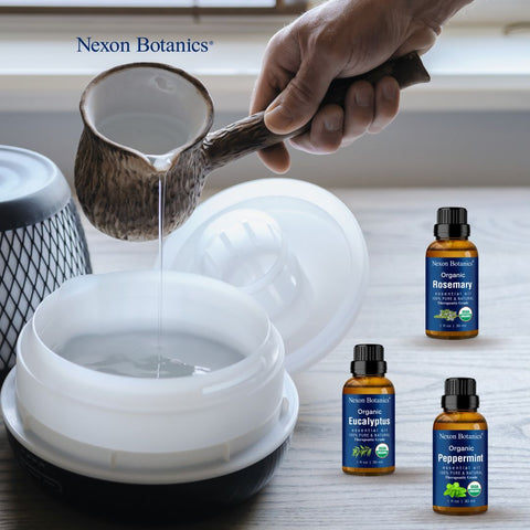 essential oils for sinus relief used in aromatherapy diffuser