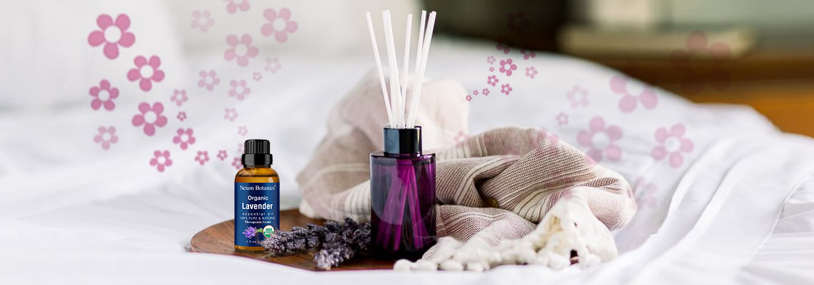 How to Naturally Deodorize small spaces banner - organic lavender essential oil - NB