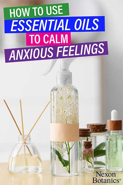 how to use essential oils to calm anxious feelings pin