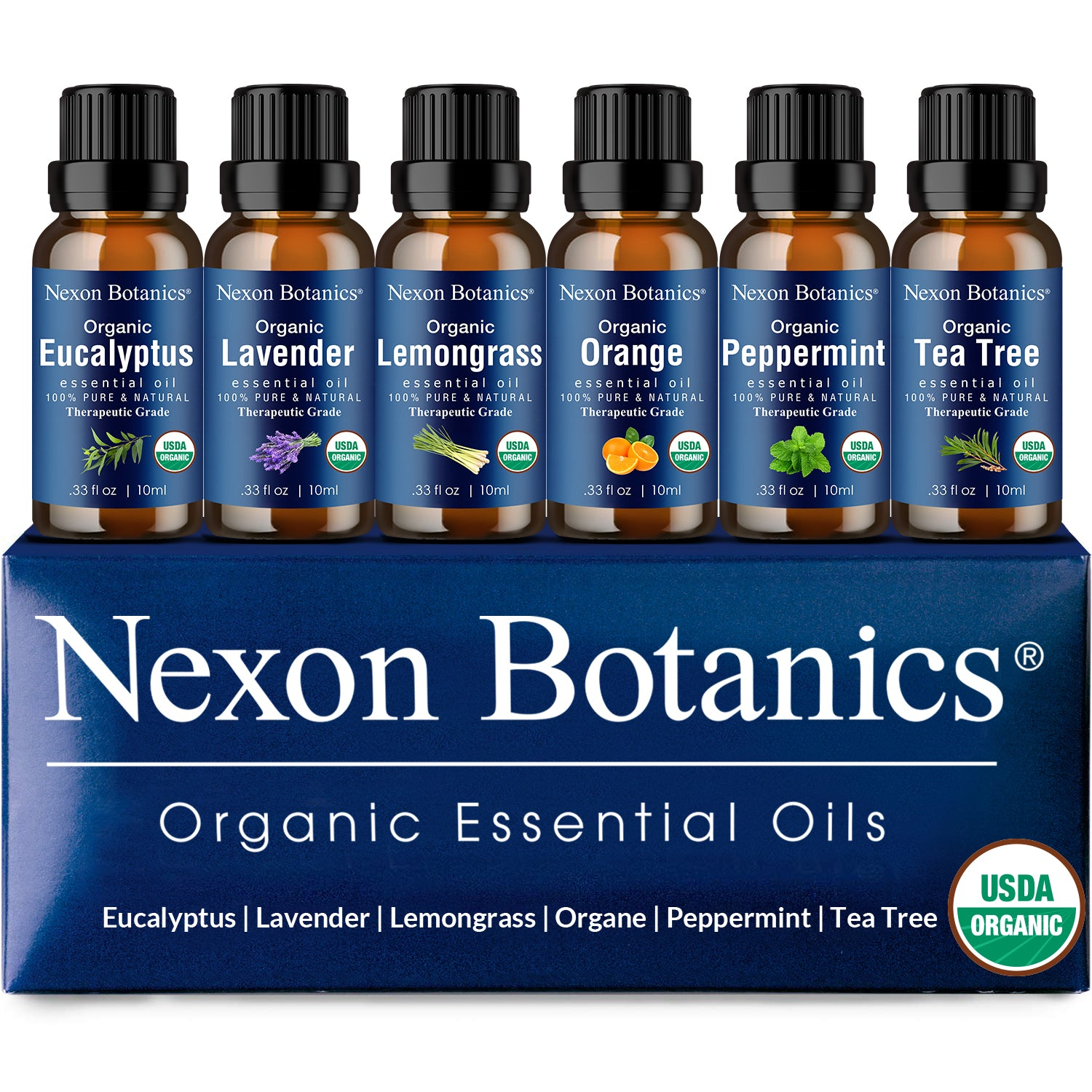Organic Essential Oils Set